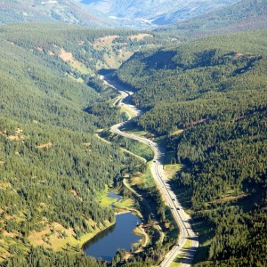 Aerial view of Vail Pass